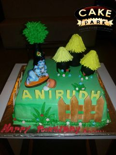 Cake Images Krishna : Little krishna, Theme cakes and Chennai on Pinterest