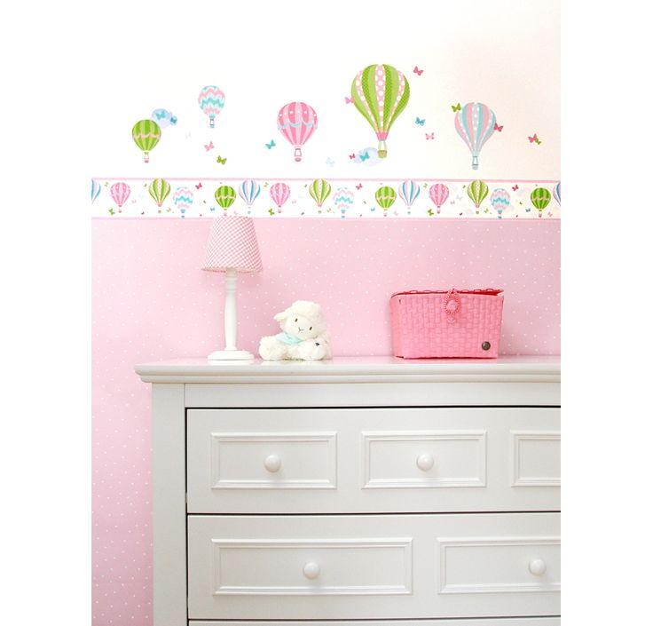 Dinki Balloon Bordüre Heißluftballons rosa/grün, selbstklebend - im Fantasyroom Shop online bestellen oder im Ladengeschäft in Lörrach kaufen. Besuchen Sie uns!