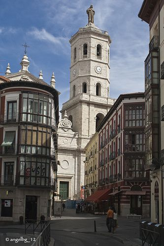 Al fondo, la catedral Valladolid, Castilla y León, Spain
