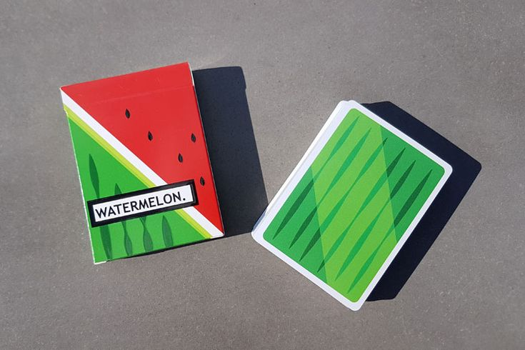 First Look: Watermelon Playing Cards by Flaminko Playing Cards