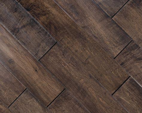 "FloorUS.com - 9/16"" Multilayer Distressed Hand-Scraped Hardwood Floor Maple Cherry Spice"