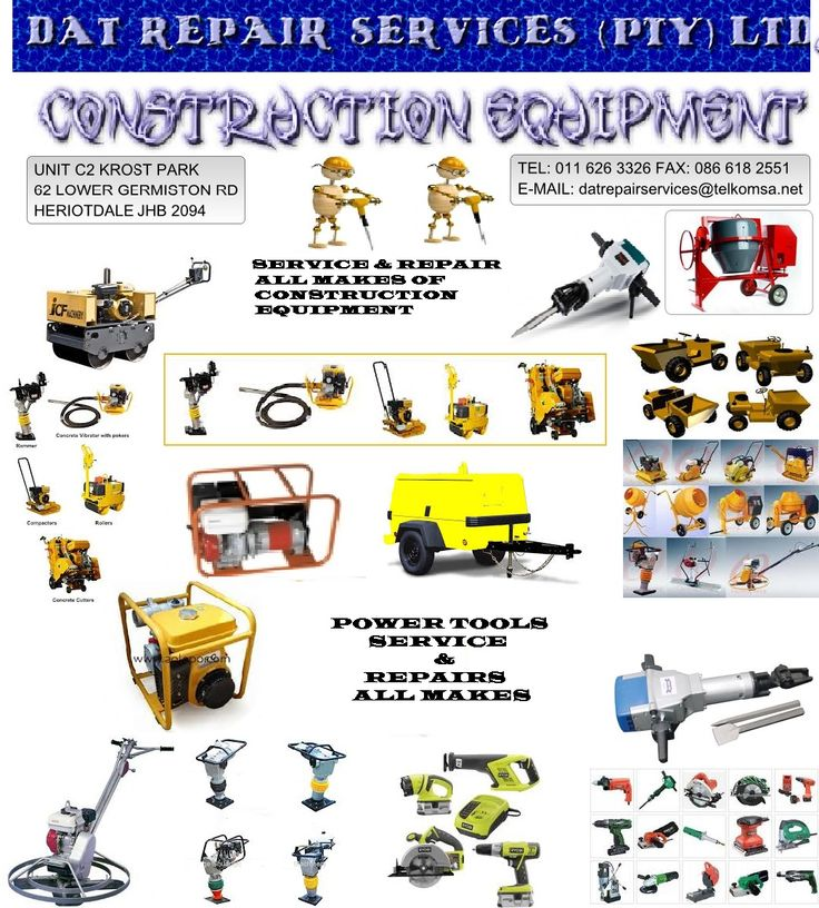 All types & Makes of Construction Equipment