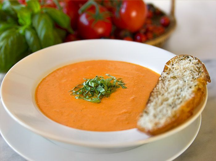 Nordstrom Cafe Tomato Basil Soup Recipe. Photo by Jeff  Powell. --This is SO good, they were passing out samples today.