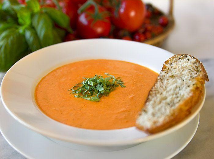 Nordstrom Cafe Tomato Basil Soup Recipe. Photo by Jeff Powell.
