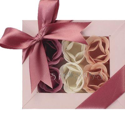 Αρωματικά σαπουνάκια τριαντάφυλλο 6 (set)Le Petites Για χρήση στο μπάνιο και διακόσμηση