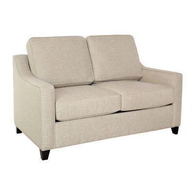 EdgecombeFurniture Clark Loveseat Sleeper Sofa Finish: Empire Mahogany, Upholstery: Deacon Williamsburg