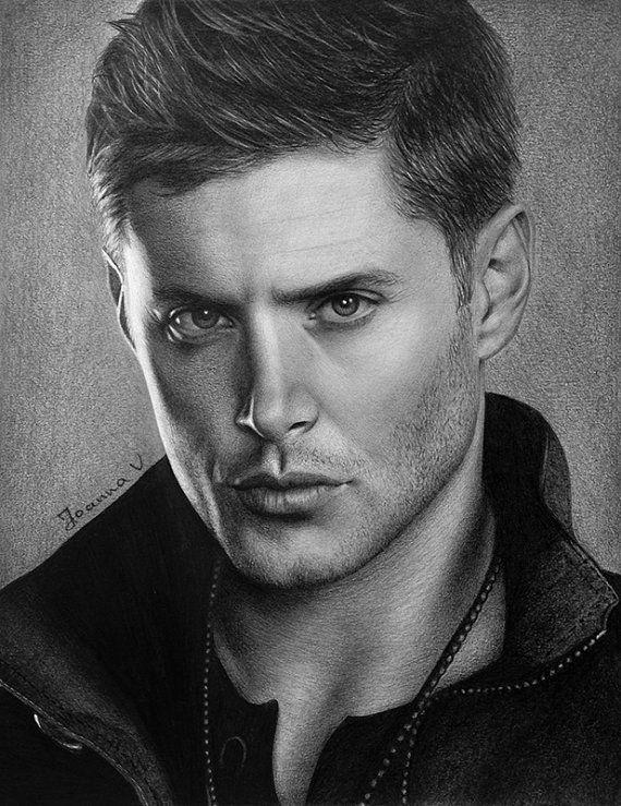 Jensen Ackles/Dean Winchester Original Fine Art Pencil Drawing
