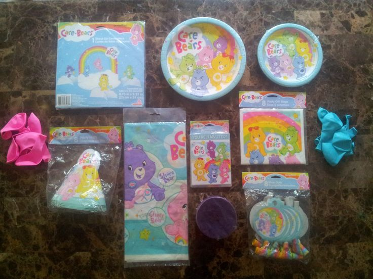 Care Bears Party Package, Care Bears, Party Supplies, Birthday Party, Centerpieces, Plates, Invitations, Gift Bags, Tablecloth, Party Hats by ITSAPARTYEVENTS on Etsy