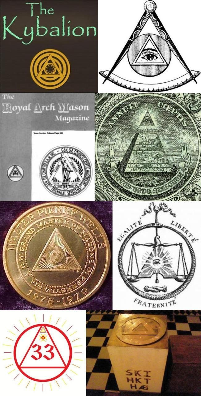 Triangle inside Circle Occult Illuminati Symbol | Muslims and the World