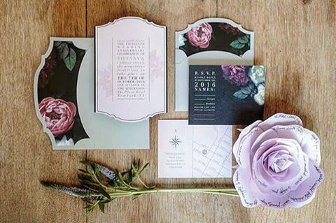 Even the good ones have a dark side. A sexy original floral pattern balanced by soft lilac and grey tones.  A gem from our Study of Type collection. Beautifully Photographed by @mangostudios at the iconic @colettetoronto. #menu #eventstationery #invitation #weddinginvites #invites #wedding #regal #refined #toronto #markham #vancouver #vancityweddings #handmade #monograms #calgaryweddinglist #wedding #culture #bridal #design #luxury #gold #igdaily #vscocam #vsco #typography #letterpress…