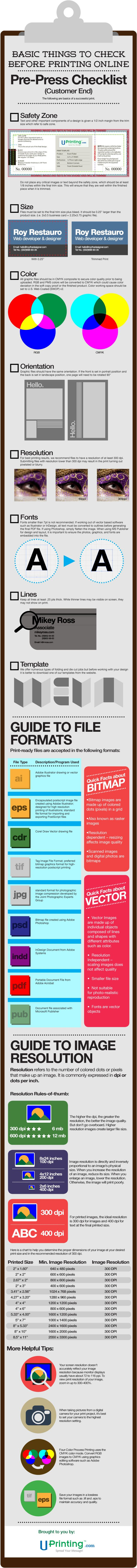 Basic Things to Check Before Printing #infographic