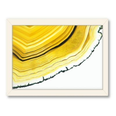 Americanflat Urban Road Collection Agate Section Yellow Framed Art Work - BedBathandBeyond.com