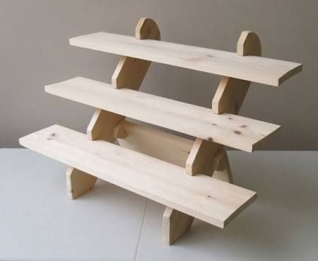 collapsible folding table top wood display shelf - Google Search