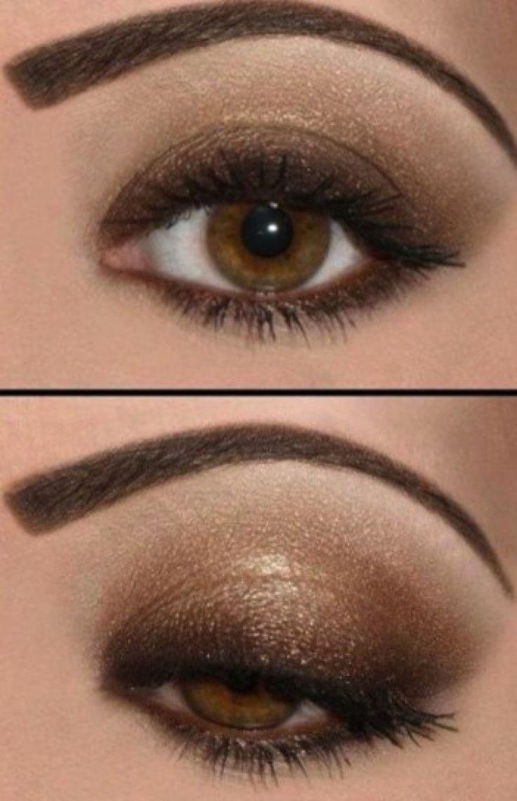 Maquillaje de noche para ojos marrones 3
