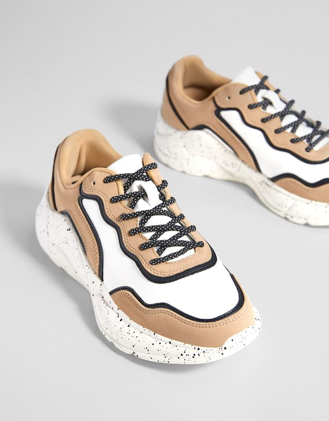 Tennis plateforme combinées | Leather shoes woman, Trending
