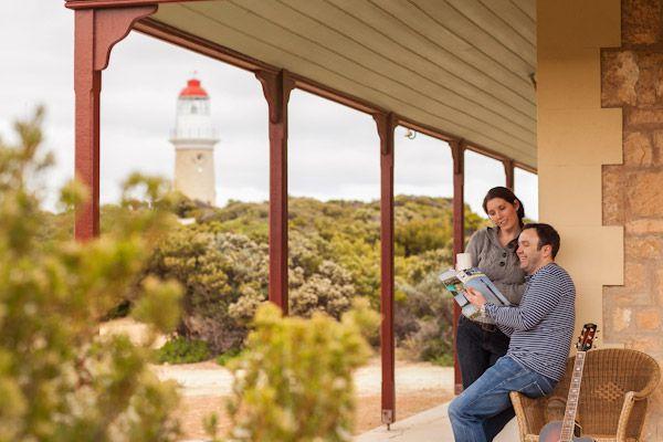 Accommodation -National Parks South Australia. Cape du Couedic Lighthouse - Historic Cottages