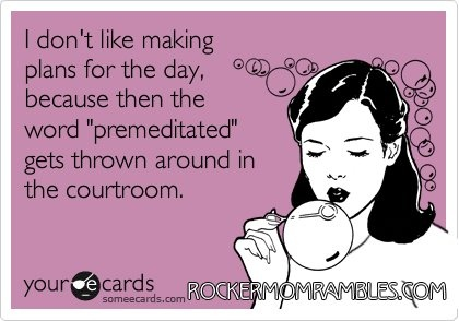 ha haPlans, Giggle, Laugh, Quotes, Premeditated, Funny Stuff, Ecards, Legally Humor, True Stories