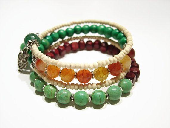 Beaded bracelet Beaded by AellaJewelry, $19.90 #beaded #gemstone #bracelet
