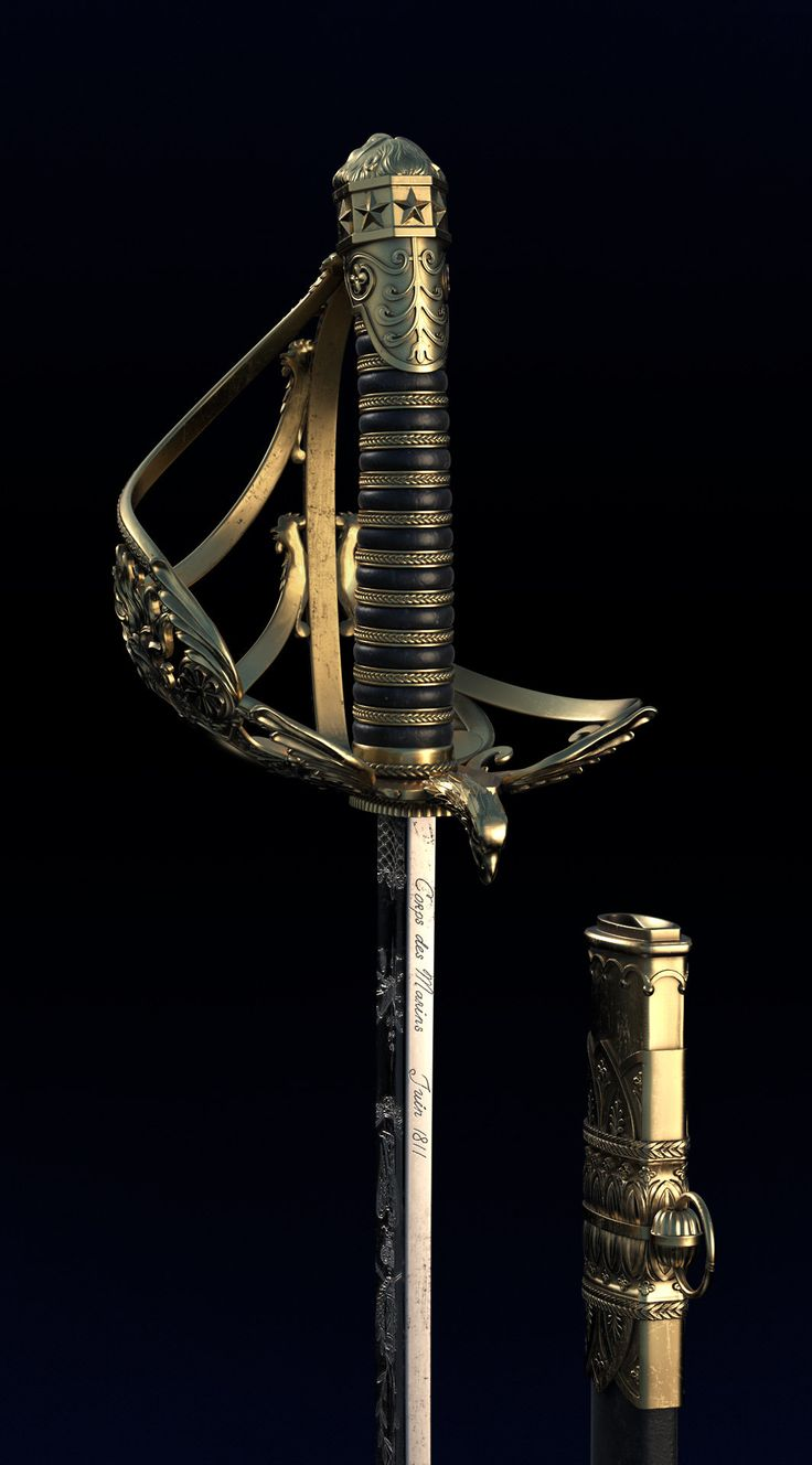 ArtStation - French sword, Anastasia Fileva