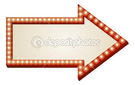 Freccia luci segno — Vettoriali Stock © Krisdog #12196257