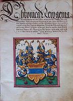 Älteste Chronik der Wernberger Linie, 1531  Familie Notthafft - Archiv