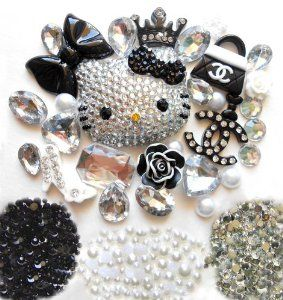 diy 3d blinged out hello kitty cell phone case resin flat back kawaii cabochons deco kit set. Black Bedroom Furniture Sets. Home Design Ideas