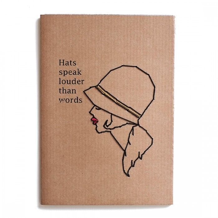 Notebook Line Rètro Hats Speak Louder Than Words