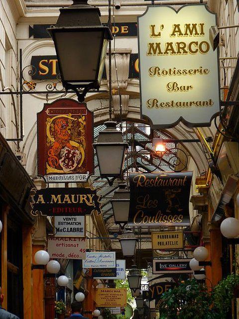 Paris Bourse district, Passage des Panoramas, Paris II by [Rachel J], via Flickr