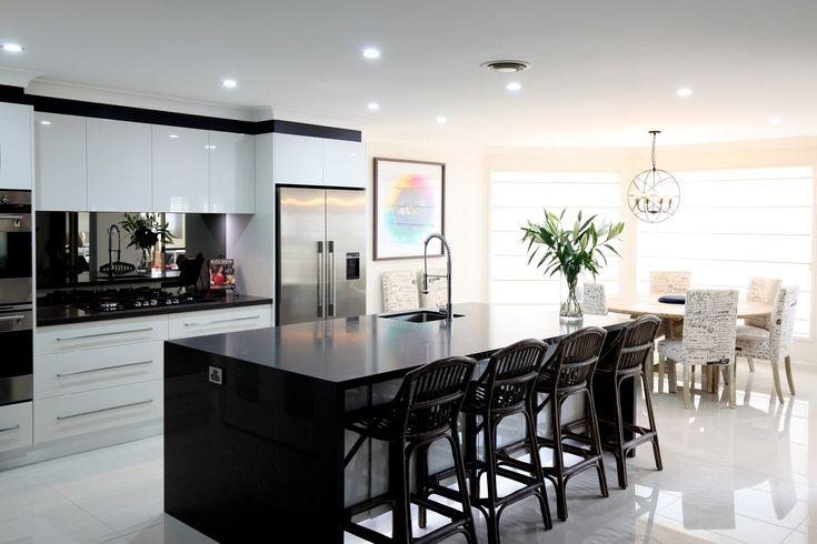 This is really Kitchen Perfection. Mirror splashback in Contemporary kitchen