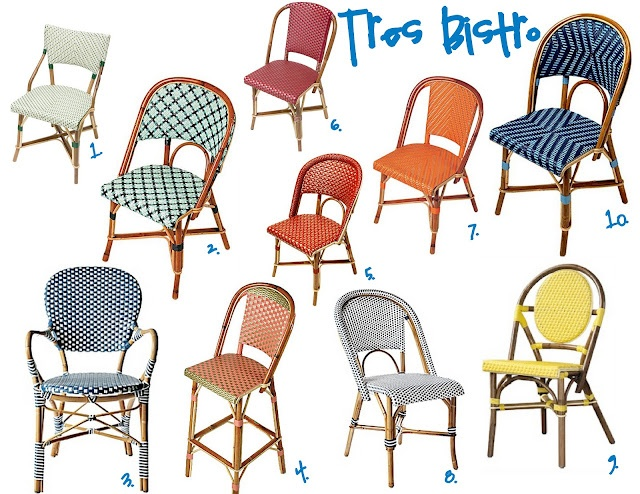 sadie + stella: Monday Musings: The Bistro Chair  Sources for Bistro Chairs