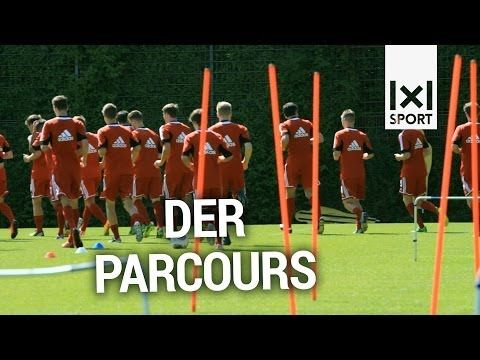 Fußball-Ausdauertraining Übung: Der Parcours - YouTube