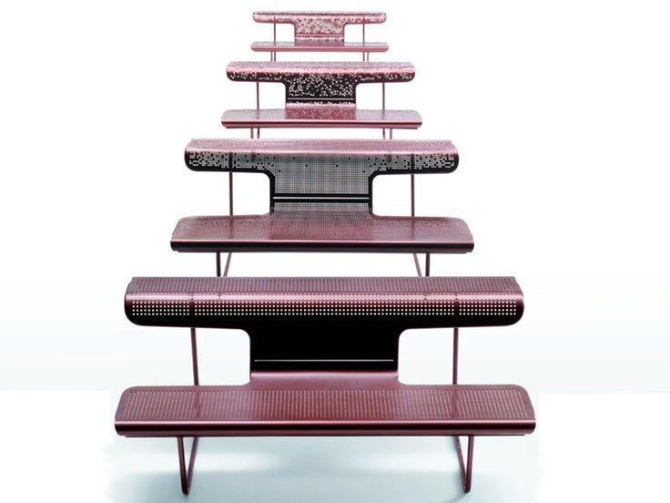 Bank aus Stahl mit Rücken EL POETA Kollektion Schweizer Bänke by BD Barcelona Design | Design Alfredo Häberli