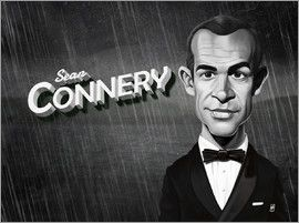 Rob Snow | caricatures - Sean Connery art | decor | wall art | inspiration | caricatures | home decor | idea | humor | gifts