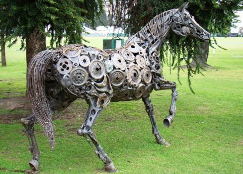 The Art Of Up-Cycling: Steampunk Horse's, Scrap Metal Horses That look Stunning ...