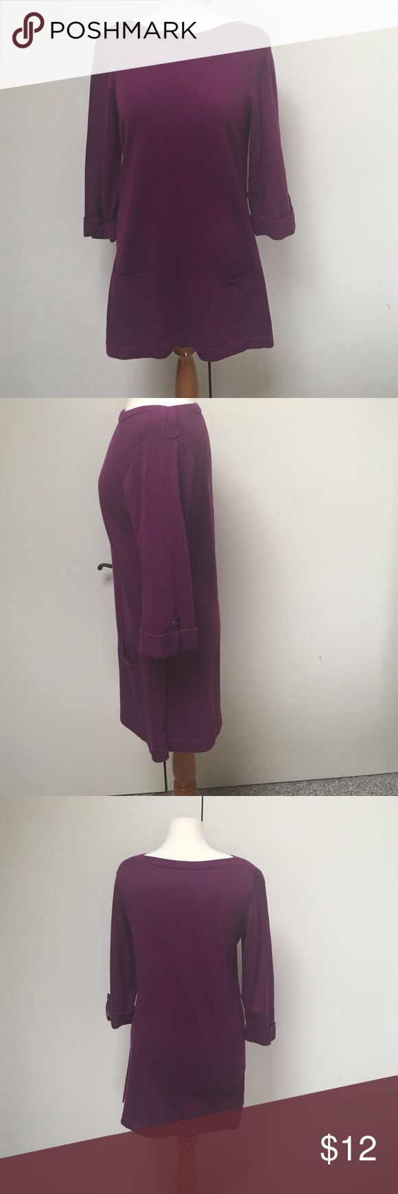 D&Co Tunic Top d & co Tunic.Royal looking purple color. 3/4 length sleeves and front pockets Hits below hips.Generous in size.Looks great with black leggings.Could also be as a dress for the right height person. D&Co Tops Tunics