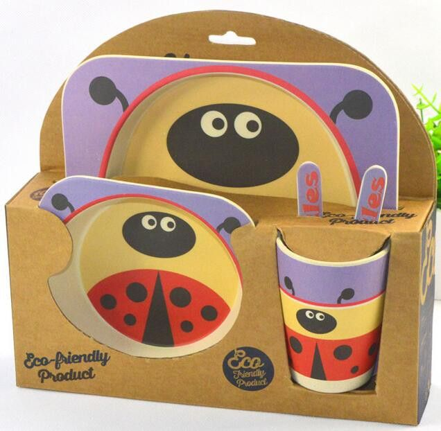Add design to your child's dinner time! These fun plate sets are not only fantastic to look at but are 100% natural bamboo so they are safe for your child.
