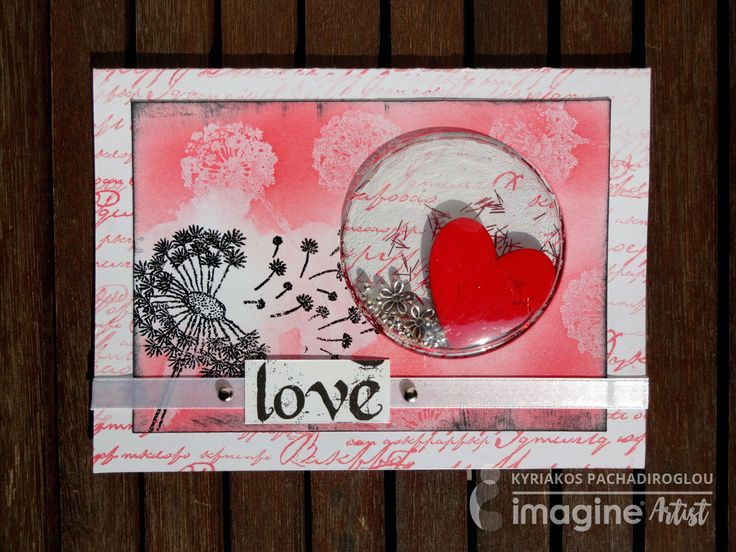 Shaker card – Pink Love