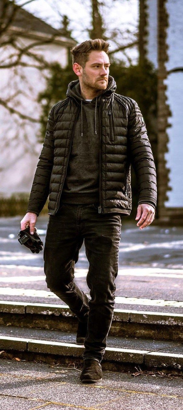 How To Style Puffer Jacket The Right Way Puffer Jacket Outfit Mens Puffer Jacket Stylish Men Casual [ 1345 x 601 Pixel ]