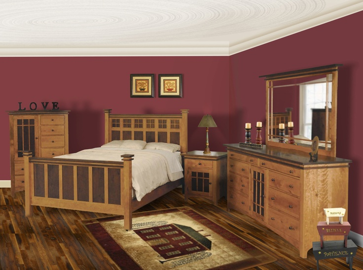 Amish Furniture Solid Wood Mission Shaker Furniture Chicago Area Illinois