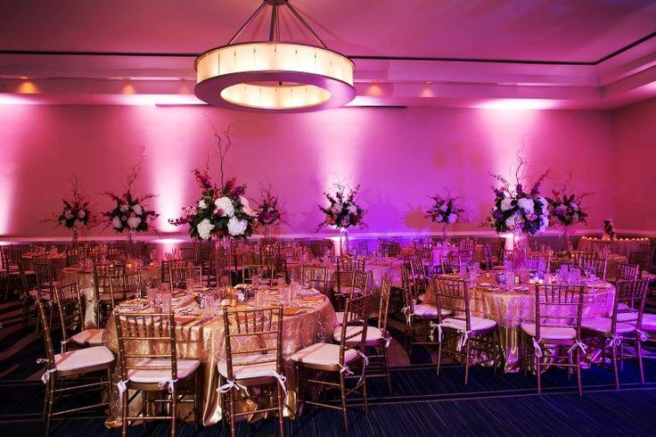 Glamorous ballroom wedding reception at The Westshore Grand in Tampa Florida - indoor Florida wedding venue (Limelight Photography)