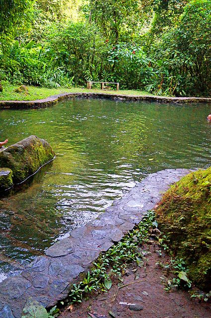 Natural swimming pool in El Valle, Panama