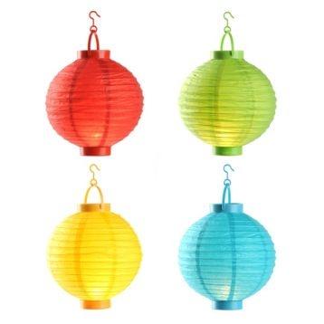 Hanging Paper Lantern Lights, Set of 4