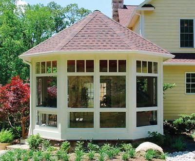 Octoganal Free Standing Screened Porch | Small Buildings, Sheds, Cabanas, Porch Systems and Pool Houses from Walpole Woodworkers