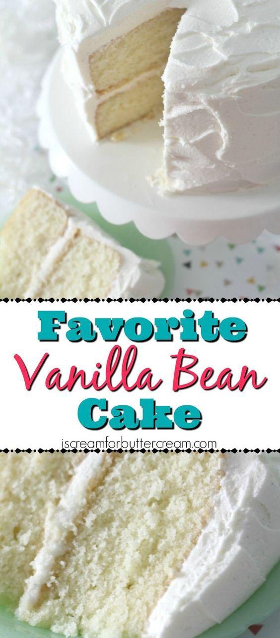 Favorite Vanilla Bean Cake   Cake And Food Recipe