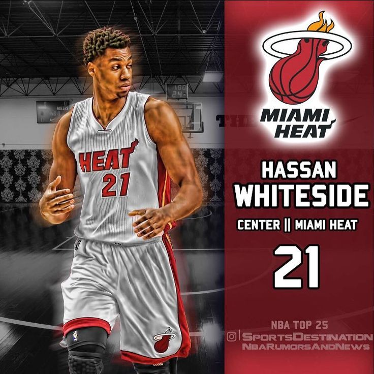 TOP 25 NBA PLAYERS ft @sportsdestination  Name : Hassan Whiteside Team : Miami Heat Position : Center NBA RANK : 2️⃣1️⃣ - Agree or disagree? Who should be #20 ? COMMENT BELOW ⬇️⬇️⬇️