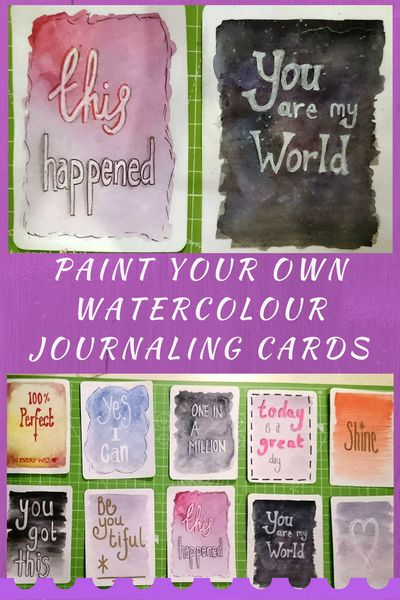 Paint your own watercolour 3x4 and 4x6 journaling cards mini tutorial and downloads - Kerrymay._.Makes