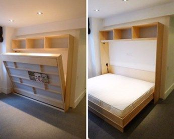 DIY Murphy Bed Add guest space, turn a small room into both a bedroom and a playroom, create a studio…