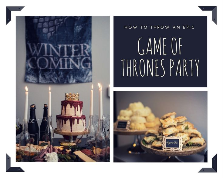Chic Home Style shows you #howto host a #gameofthrones themed party! Check it out now on the blog. @gameofthrones #partyideas