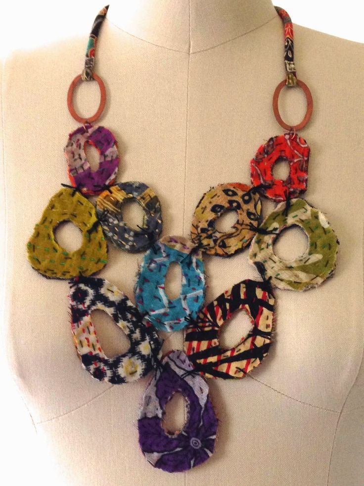 Pin By Deborah Woods On Necklaces Textile Jewelry