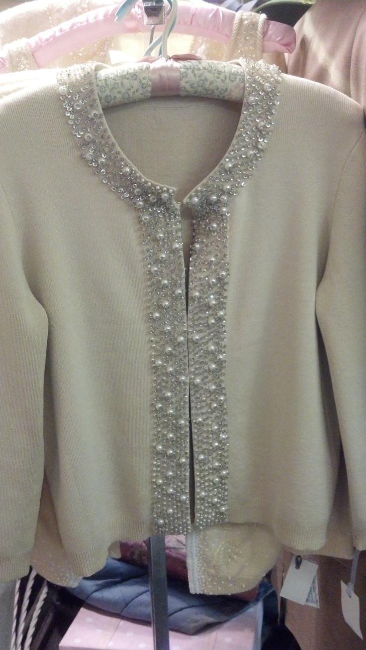 1950's Bani Lox Cardigan sweater with beads, sequins & pearl trim.  $170.